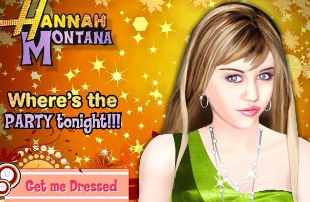 the game hannah montana makeover party tonight